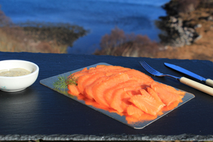 180 gram pack of hand sliced traditional cold smoked salmon